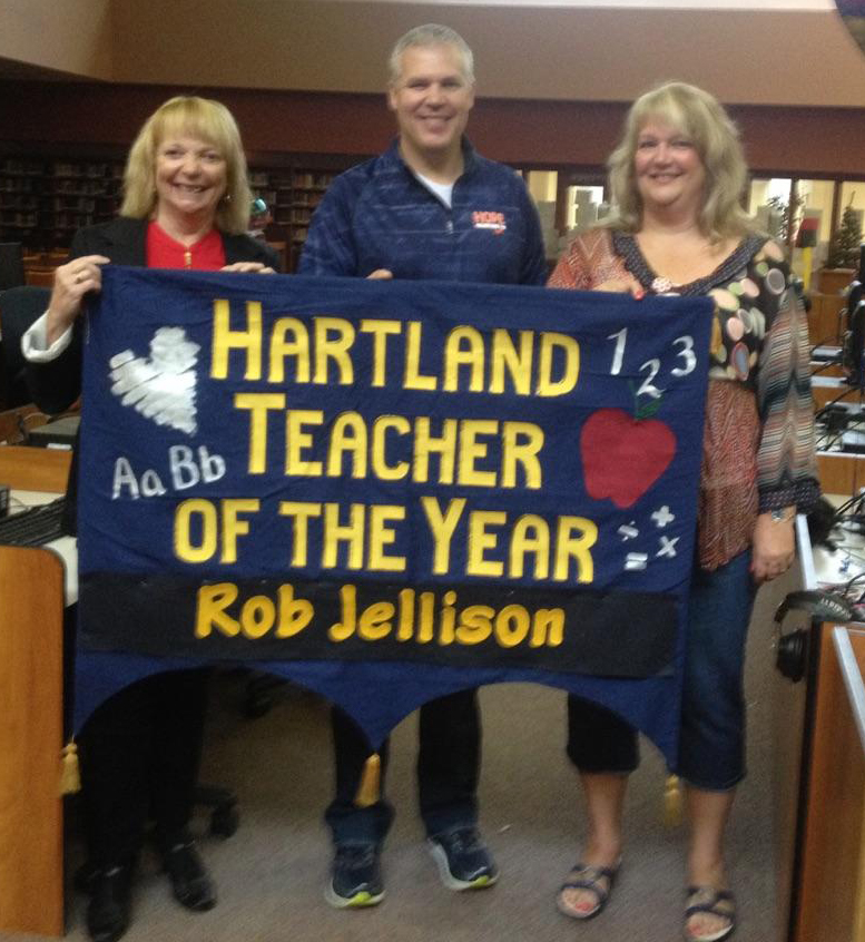 Rob Jellison Teacher of the year